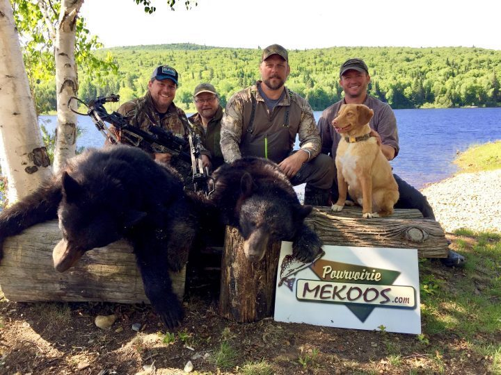 Chasse à l'ours d'un groupe chez Pourvoirie Mekoos, Merci de votre visite!