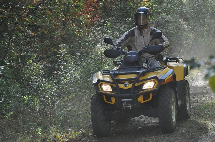 Go quad-biking on quad trails at Pourvoirie Mekoos